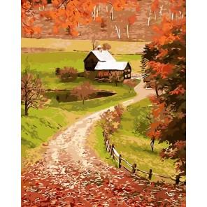Дорога на хутор Раскраска картина по номерам на холсте
