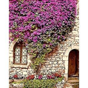 Цветущая стена Раскраска картина по номерам на холсте