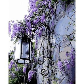 Фонарь на стене Раскраска картина по номерам на холсте