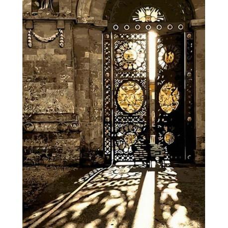 Старинные ворота Раскраска картина по номерам акриловыми красками на холсте