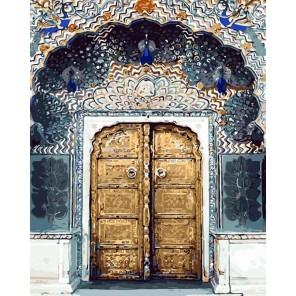 Сказочная дверь Раскраска картина по номерам акриловыми красками на холсте