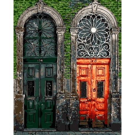 Старинные двери Раскраска картина по номерам акриловыми красками на холсте
