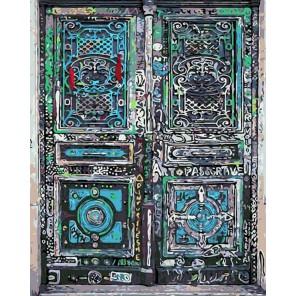 Волшебная дверь Раскраска картина по номерам на холсте