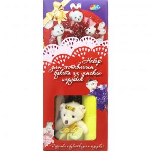 Шоколадные конфеты Внешний вид Набор для создания букета из 5-ти игрушек