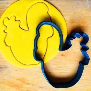 Петушок сидячий Форма для вырезания печенья и пряников