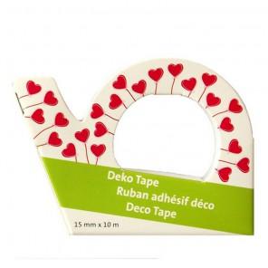 Сердечки - шарики Скотч декоративный для скрапбукинга Heyda
