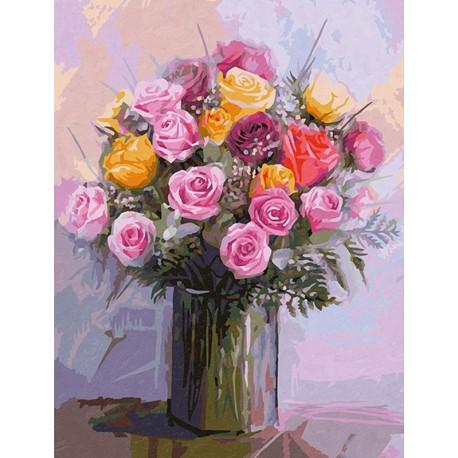Букет роз Раскраска картина по номерам акриловыми красками Schipper (Германия)