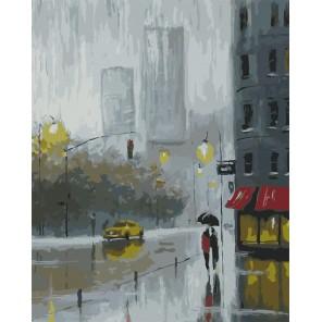 Рисуем дождь Раскраска картина по номерам акриловыми красками на холсте
