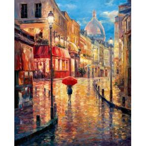 Ночной город Раскраска картина по номерам акриловыми красками на холсте