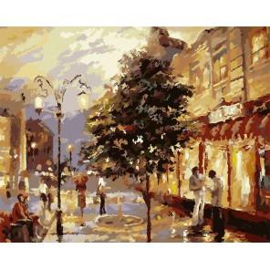 Фонари Раскраска картина по номерам акриловыми красками на холсте