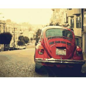 Ретро California Раскраска картина по номерам акриловыми красками на холсте