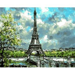 Романтический Париж Раскраска картина по номерам на холсте