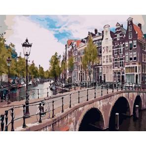 Императорский канал. Амстердам Раскраска картина по номерам акриловыми красками на холсте