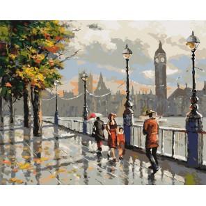 Осенний Лондон Раскраска картина по номерам акриловыми красками на холсте