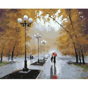 Прогулка в Сокольниках Раскраска картина по номерам акриловыми красками на холсте