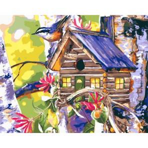 Уютный скворечник Раскраска картина по номерам акриловыми красками на холсте