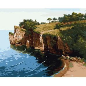Скалистый берег Раскраска картина по номерам акриловыми красками на холсте