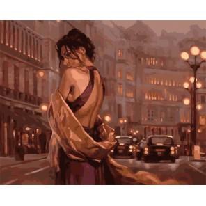 Девушка в вечернем платье Раскраска картина по номерам акриловыми красками на холсте