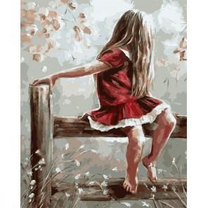 Босоногая девчонка Раскраска картина по номерам акриловыми красками на холсте