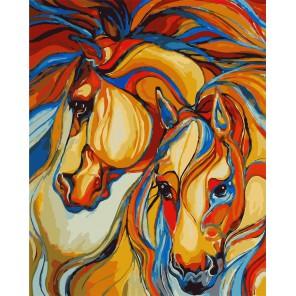 Лошади (художник Марсия Болдуин) Раскраска картина по номерам акриловыми красками на холсте