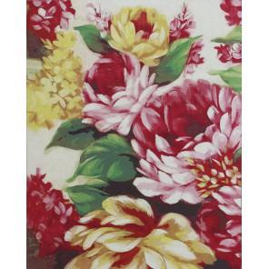 Пышный букет Раскраска картина по номерам акриловыми красками на холсте