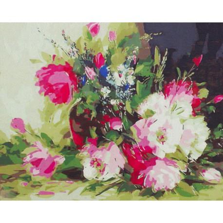 Нежный летний букет Раскраска картина по номерам на холсте