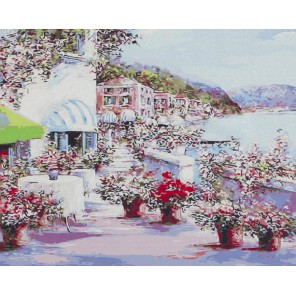 Солнечная набережная (художник Lucia Sarto) Раскраска картина по номерам акриловыми красками на холсте