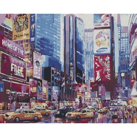 Ночь в Манхэттене Раскраска картина по номерам на холсте