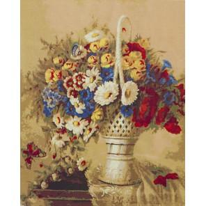 Натюрморт (художник Иоганн Адальберт Ангермейер) Раскраска картина по номерам акриловыми красками на холсте