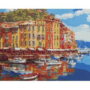 Солнечная гавань Раскраска картина по номерам акриловыми красками на холсте