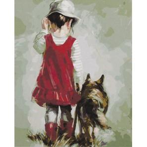 Прогулка с Люси Раскраска картина по номерам акриловыми красками на холсте