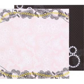 Кружевные цветы. Stylish club Бумага двусторонняя для скрапбукинга, кардмейкинга Арт Узор