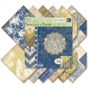 Голубые узоры Набор бумаги для скрапбукинга K&Company