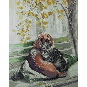 Дружба крепкая Раскраска картина по номерам акриловыми красками на холсте