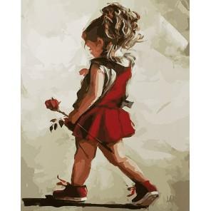 Роза в подарок маме Раскраска картина по номерам акриловыми красками на холсте