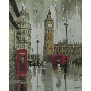 Биг Бен. Лондонские дожди Раскраска картина по номерам акриловыми красками на холсте