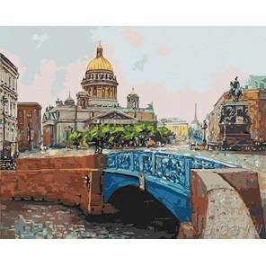 Вид от Синего моста. Исаакиевский собор Раскраска картина по номерам акриловыми красками на холсте