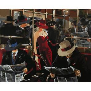 Шикарной женщины неуловимый взгляд Раскраска картина по номерам акриловыми красками на холсте