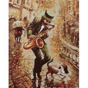 Осенний блюз Раскраска картина по номерам акриловыми красками на холсте