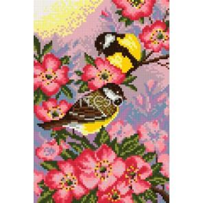 Птички Алмазная мозаика на твердой основе Iteso