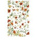 Цветы Маки и одуванчики 510 Рисовая декупажная карта Ferrario
