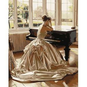 Девушка у рояля (художник Роб Хефферан) Раскраска картина по номерам акриловыми красками на холсте