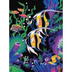 Цветные рыбки Алмазная мозаика стразами на подрамнике Color Kit