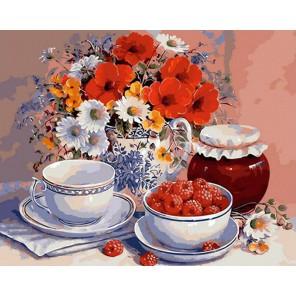 Летнее чаепитие Раскраска картина по номерам акриловыми красками на холсте Menglei
