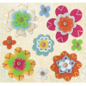 Цветы войлочные Гвоздики Набор K&Company