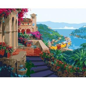 Южный город Раскраска картина по номерам акриловыми красками на холсте Menglei