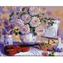 Натюрморт со скрипкой Раскраска картина по номерам на холсте Menglei