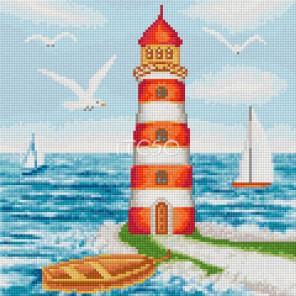 Чудный маяк Алмазная мозаика на твердой основе Iteso