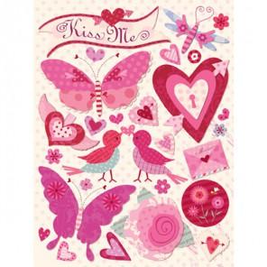 Любовь и бабочки Стикеры для скрапбукинга, кардмейкинга K&Company