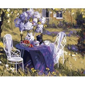 Лиловое чаепитие (художник Тим Бенджамин) Раскраска картина по номерам акриловыми красками на холсте